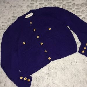 Vintage JH Collectibles 100% Wool Chunky Cardigan